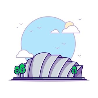 Illustrazioni di armadillo glasgow. punti di riferimento concetto bianco isolato. stile cartone animato piatto
