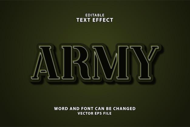Effetto di testo modificabile dell'esercito