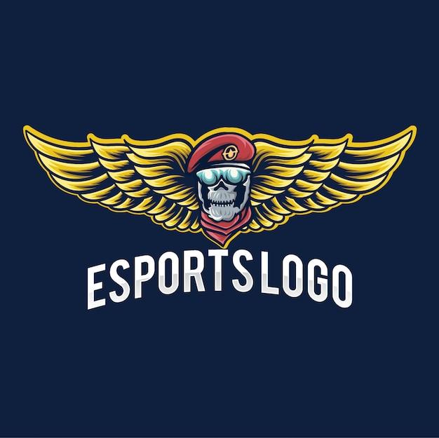 Logo di gioco dell'esercito esport