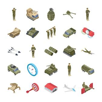 Set di icone dell'esercito