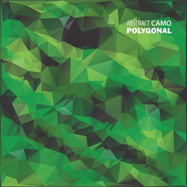 Esercito militare. sfondo mimetico. fatto di forme geometriche triangoli. illustrazione dell'esercito. stile poligonale.