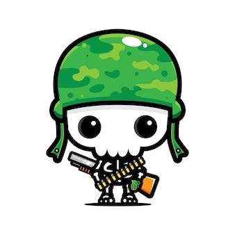 Disegno del personaggio del cranio dell'esercito