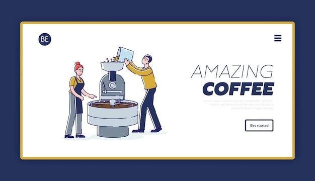 Preparazione del caffè aromatizzato: fase di tostatura dei chicchi