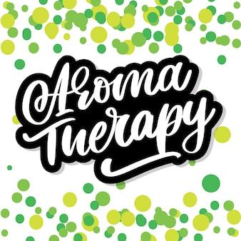 Lettera di terapia dell'aroma. medicina alternativa. concetto di stile di vita sano. segno organico.