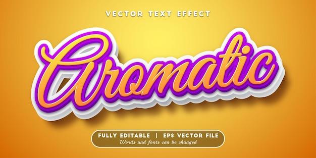 Effetto di testo aromatico, stile di testo modificabile