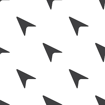 Cursore a freccia, motivo vettoriale senza soluzione di continuità, modificabile può essere utilizzato per sfondi di pagine web, riempimenti a motivo