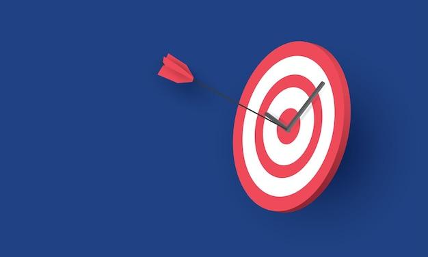 La freccia ha colpito l'obiettivo affari di successo concetto di ispirazione aziendale