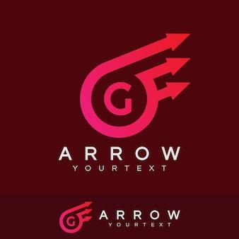 Freccia iniziale lettera g logo design