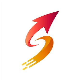 Arrow letter s logo