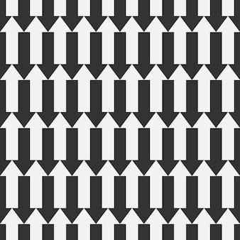 Modello di freccia senza soluzione di continuità. fondo astratto delle frecce di vettore. colore bianco e nero.