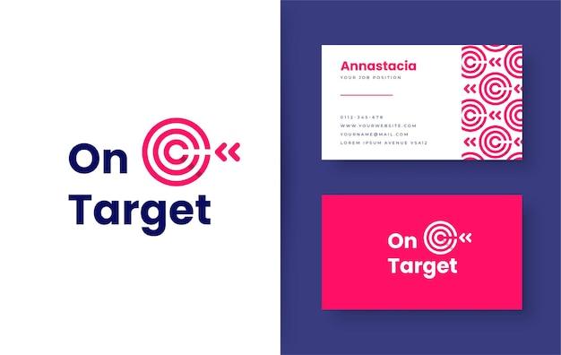 Freccia destra sul design del logo di destinazione