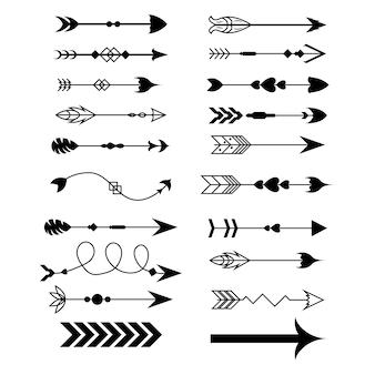 Collezione di set di frecce