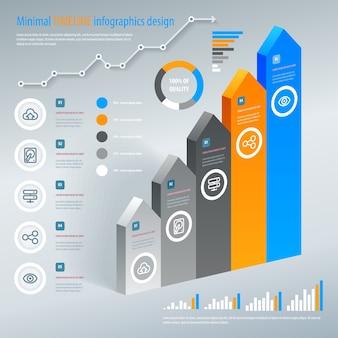 Infografica scala freccia. . può essere utilizzato per layout del flusso di lavoro, banner, opzioni di numero, opzioni di aumento, web design, infografiche.
