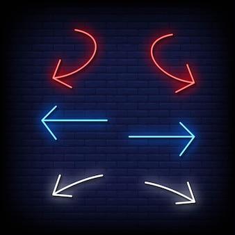 Insegne al neon simbolo freccia