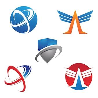 Icona di illustrazione vettoriale freccia logo template design