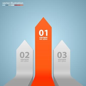 Info di arte di crescita di affari delle frecce. illustrazione vettoriale