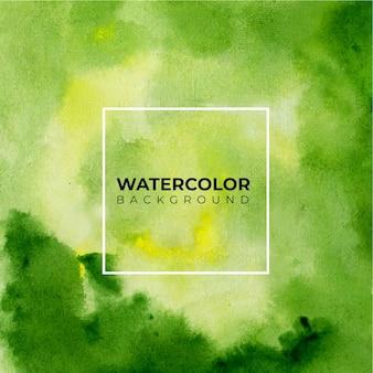 Sfondo di arte con sfondo acquerello di colore verde.