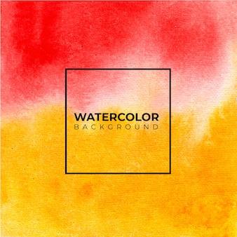 Sfondo di arte con sfondo acquerello di colore rosso e giallo.