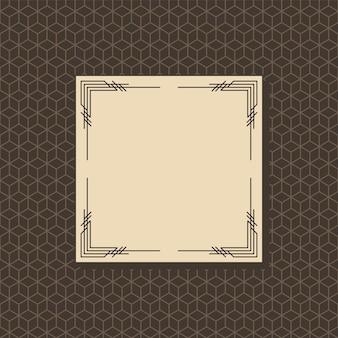 Illustrazione di design del telaio art deco