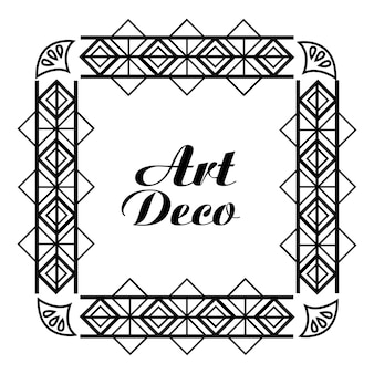 Cornice art deco decorativa reale geometrica