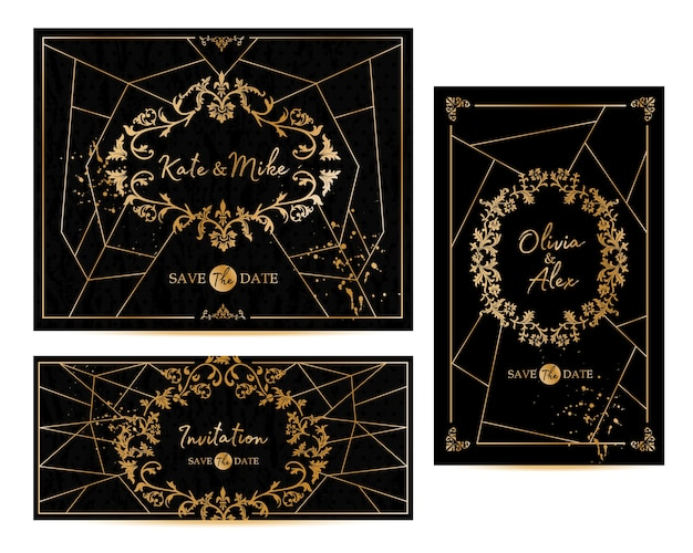 La cornice vintage geometrica art deco può essere utilizzata per l'invito, congratulazioni