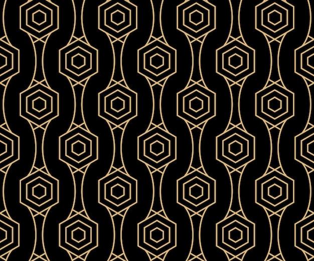Art deco design pattern di sfondo senza soluzione di continuità
