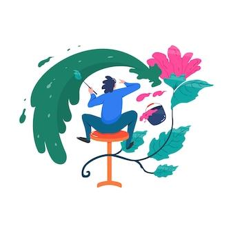 Pittura artistica digitale di design artistico