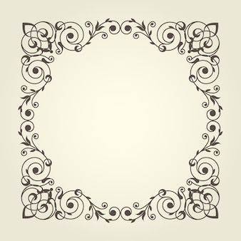 Cornice quadrata in stile art nouveau dalle linee dritte