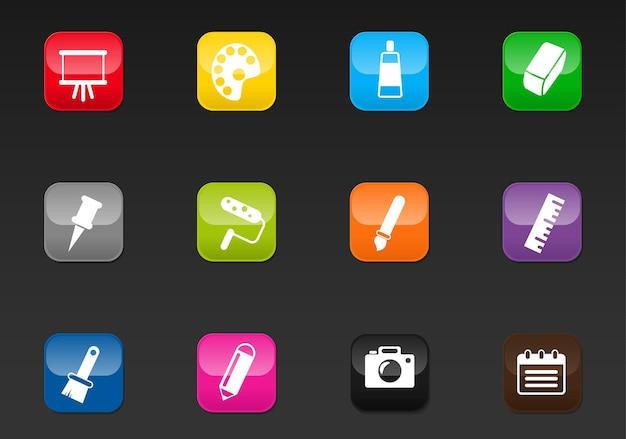 Icone web professionali d'arte per il tuo design