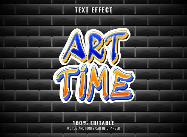 Effetto testo graffiti grunge modificabile in tempo d'arte