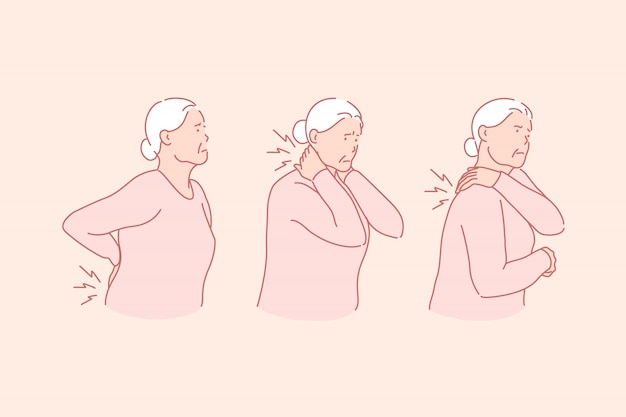 Artrite, reumatismi, concetto di malattia senile