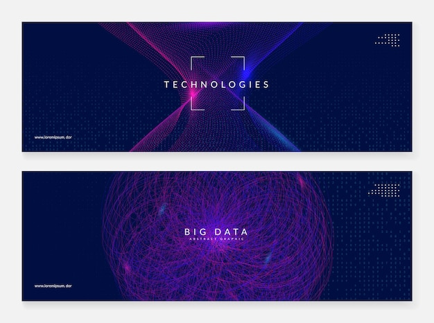 Intelligenza artificiale. banner astratto