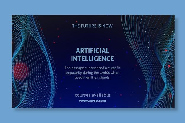 Design di banner di intelligenza artificiale Vettore Premium