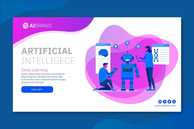 Modello di banner di intelligenza artificiale