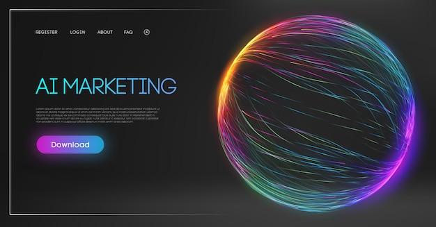 Chatbot di marketing digitale di intelligenza artificiale macchina di consulenza tecnologica