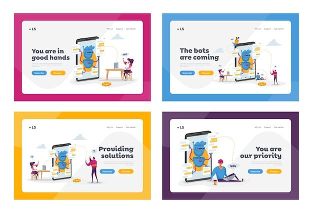 Set di modelli di pagina di destinazione di intelligenza artificiale