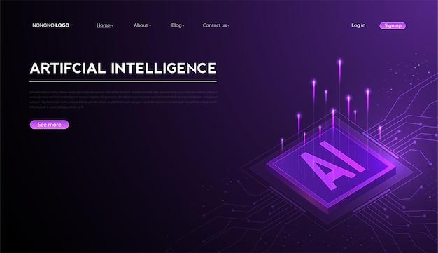 Intelligenza artificiale machine learning ai dati deep learning per future opere d'arte tecnologiche