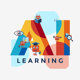 Raccolta di icone di auto apprendimento intelligenza artificiale
