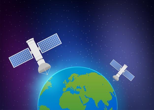 Satelliti artificiali in orbita attorno al pianeta terra