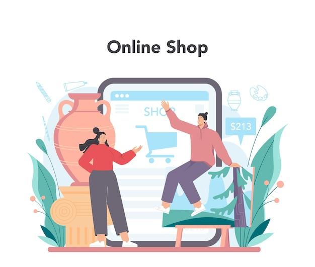 Servizio o piattaforma online dell'artista