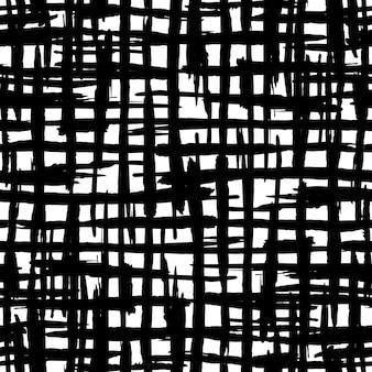 Reticolo senza giunte delle bande di pennello artistico. sfondo a strisce di inchiostro nero disegnato a mano. illustrazione vettoriale