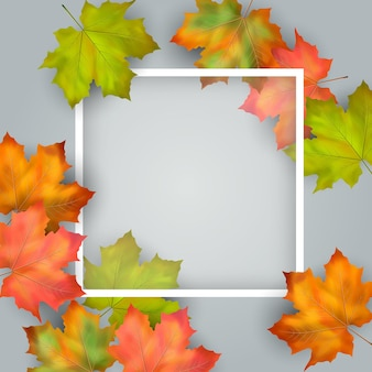 Biglietto d'autunno artistico creativo