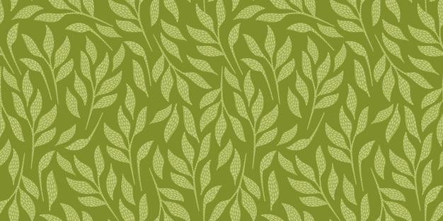 Modello senza cuciture artistico con foglie astratte. design moderno per carta, copertina, tessuto, arredamento e altri utenti.