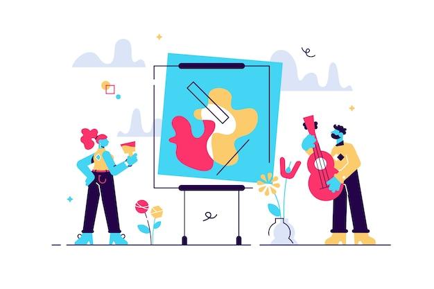 Collezione di arti come espressione creativa astratta di sé