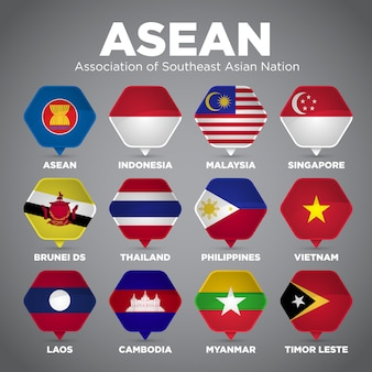 Bandiere dell'asean