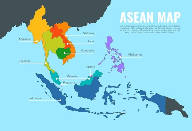 Illustrazione della mappa asean