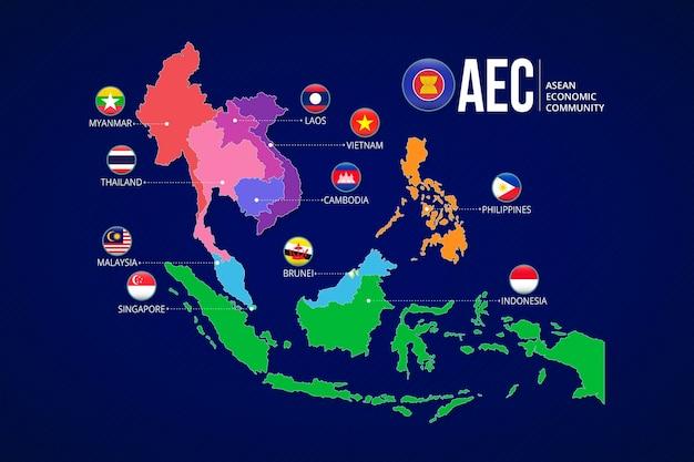 Asean mappa infografica