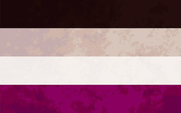 Segno asessuale, bandiera dell'orgoglio asessuale con texture
