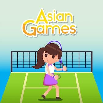 Illustrazione di giochi asiatici