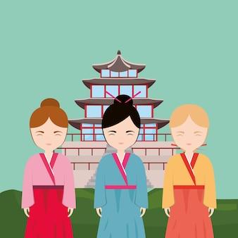 Progettazione di ragazze asiatiche